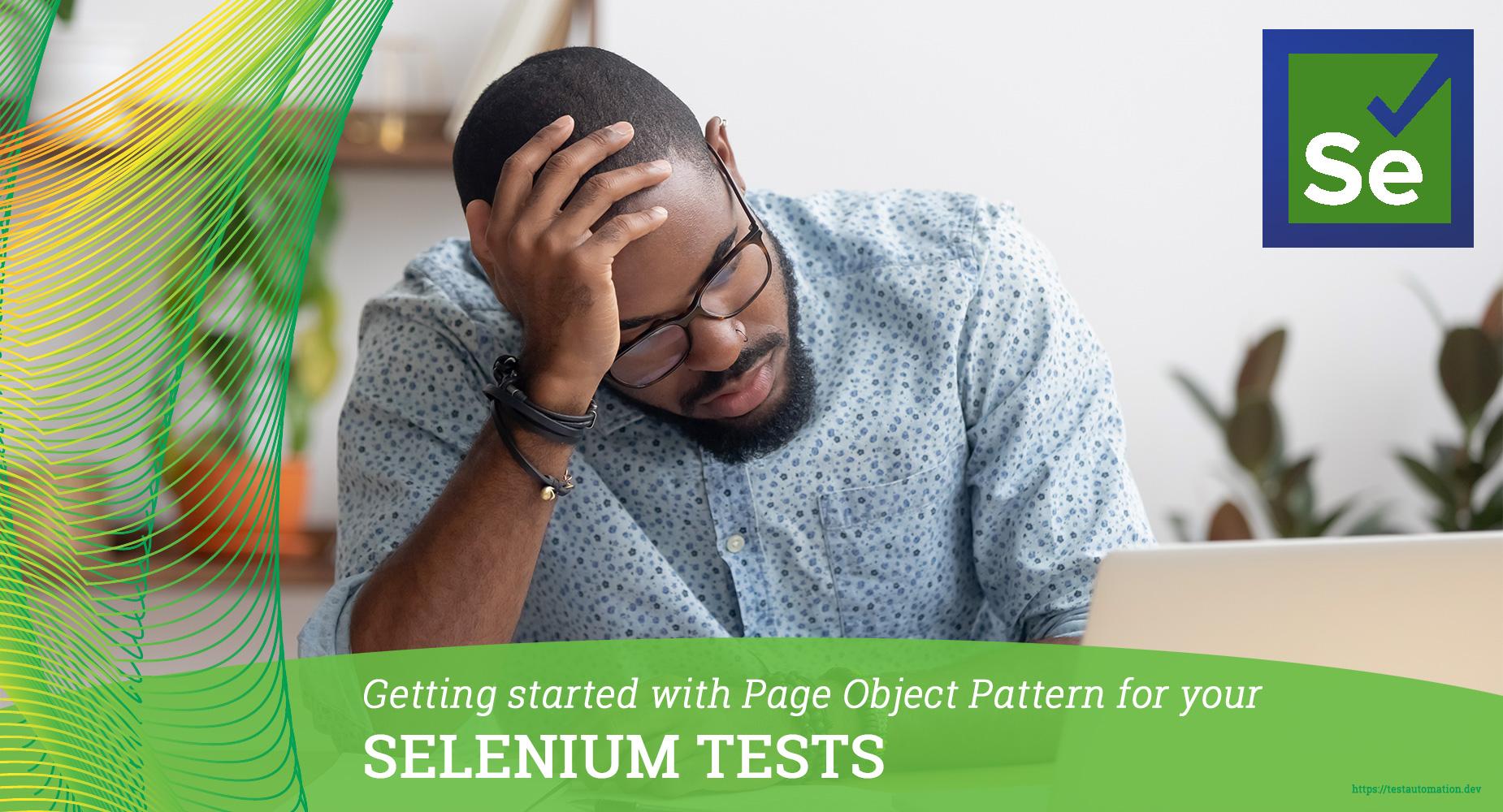 page object pattern selenium